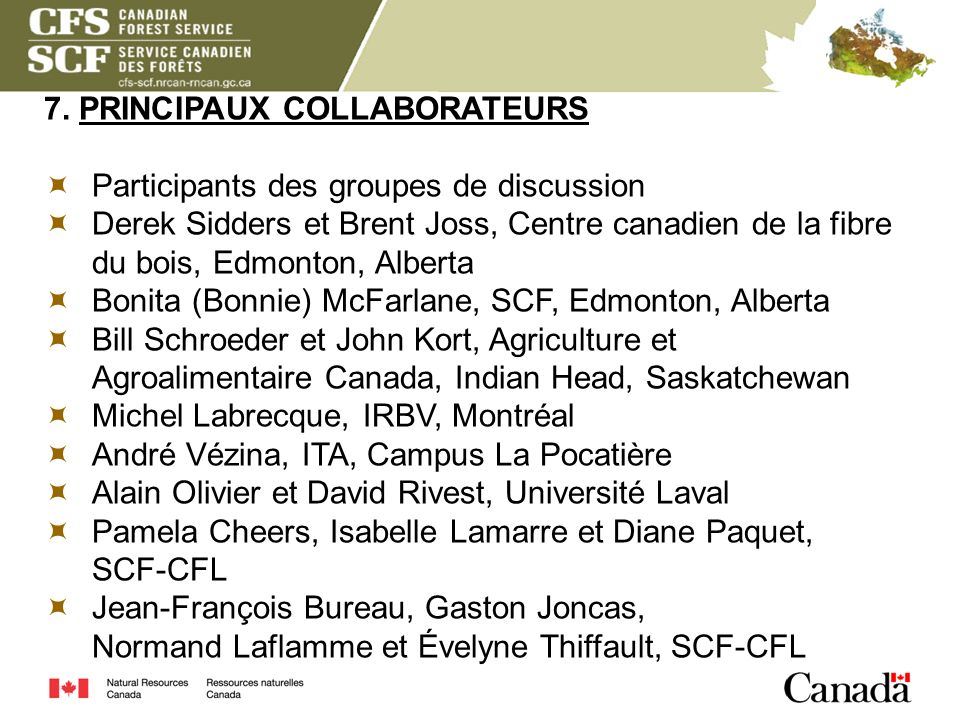 7. PRINCIPAUX COLLABORATEURS
