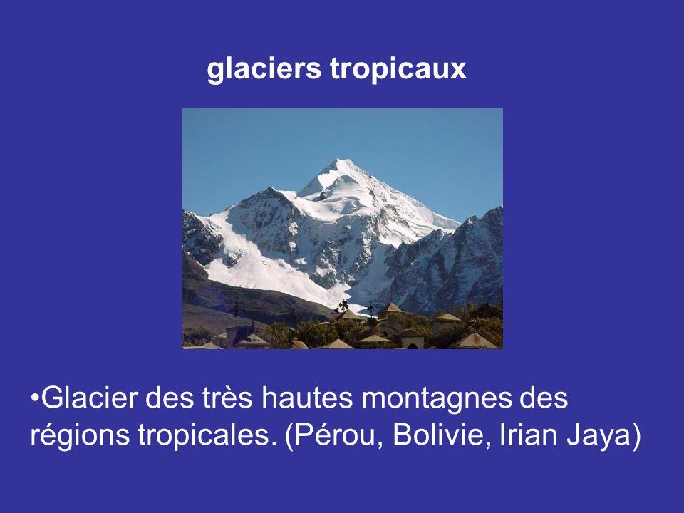 glaciers tropicaux Glacier des très hautes montagnes des.
