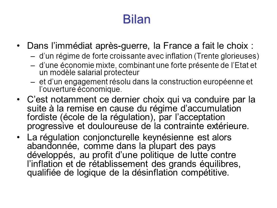 Bilan Dans l'immédiat après-guerre, la France a fait le choix :