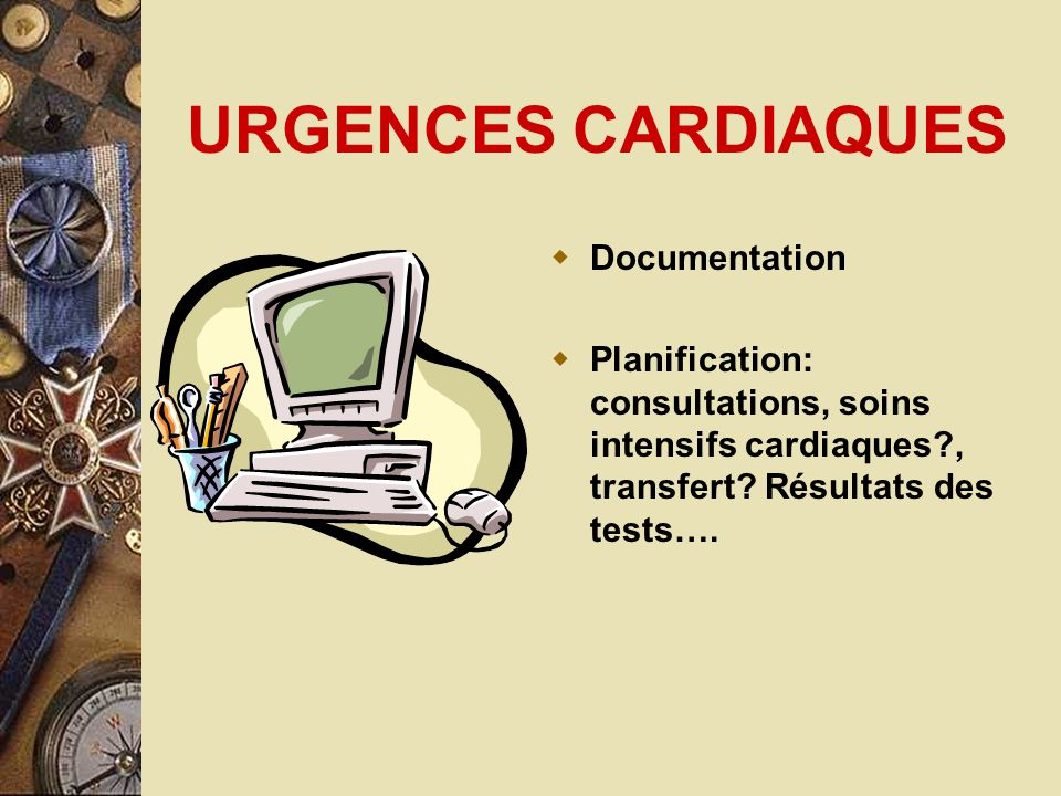 URGENCES CARDIAQUES Documentation