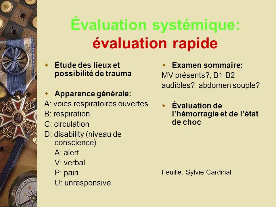 Évaluation systémique: évaluation rapide