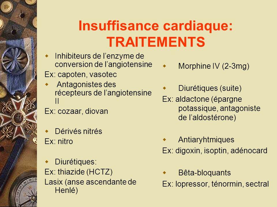 Insuffisance cardiaque: TRAITEMENTS