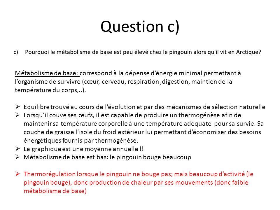 Question c)