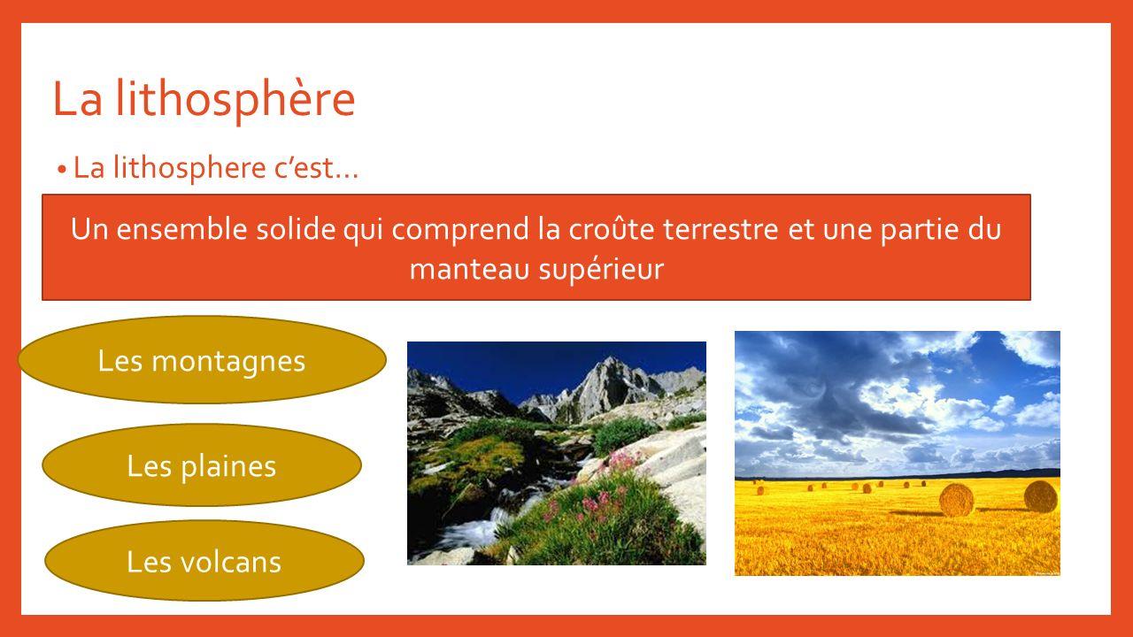 La lithosphère La lithosphere c'est…