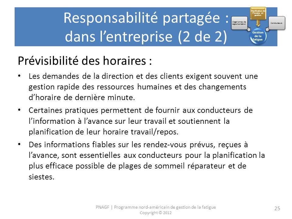 Responsabilité partagée : dans l'entreprise (2 de 2)
