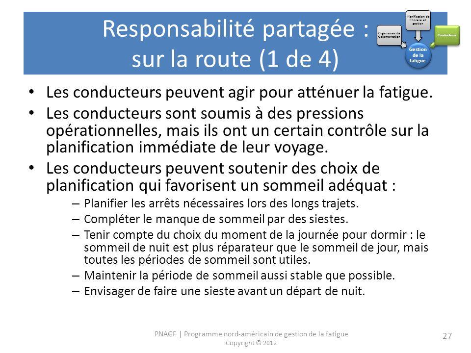 Responsabilité partagée : sur la route (1 de 4)
