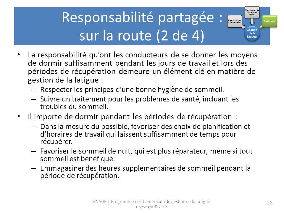 Responsabilité partagée : sur la route (2 de 4)