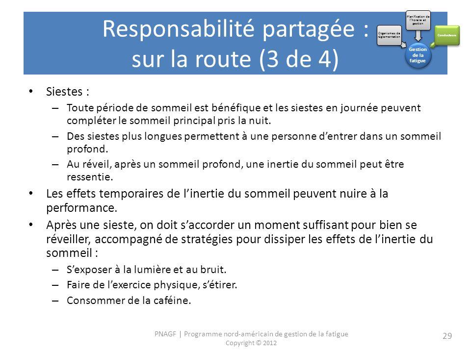 Responsabilité partagée : sur la route (3 de 4)