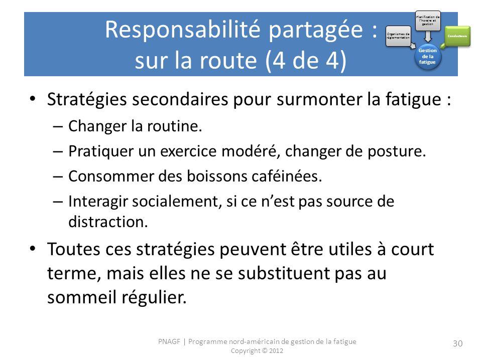 Responsabilité partagée : sur la route (4 de 4)