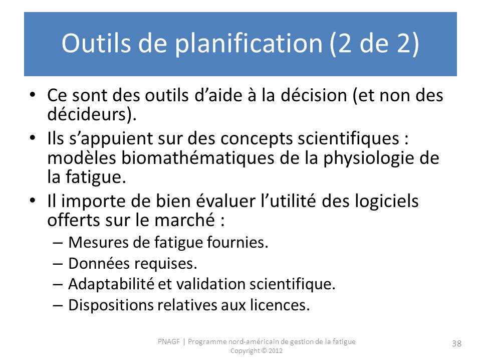 Outils de planification (2 de 2)