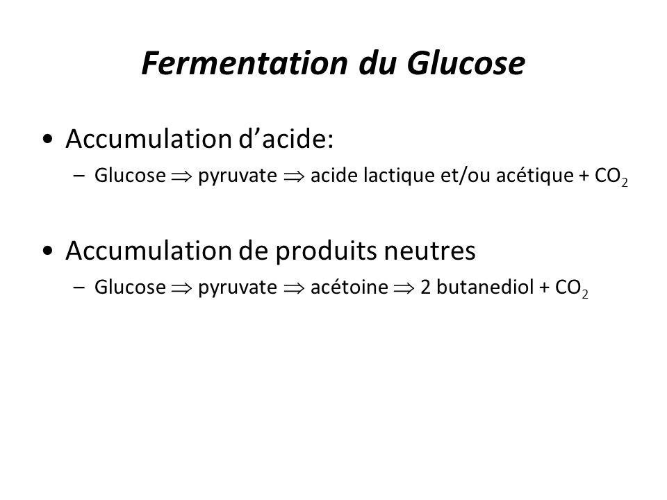 Fermentation du Glucose