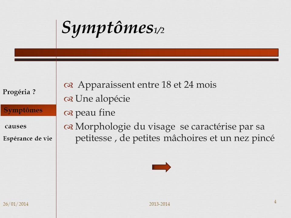 Symptômes1/2 Apparaissent entre 18 et 24 mois Une alopécie peau fine