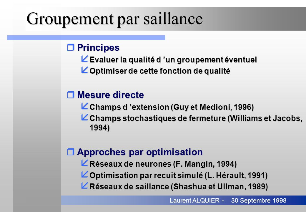 Groupement par saillance