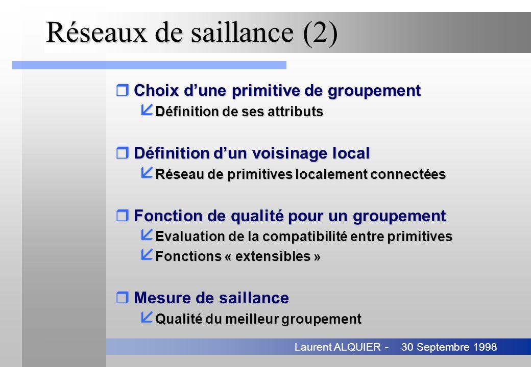 Réseaux de saillance (2)
