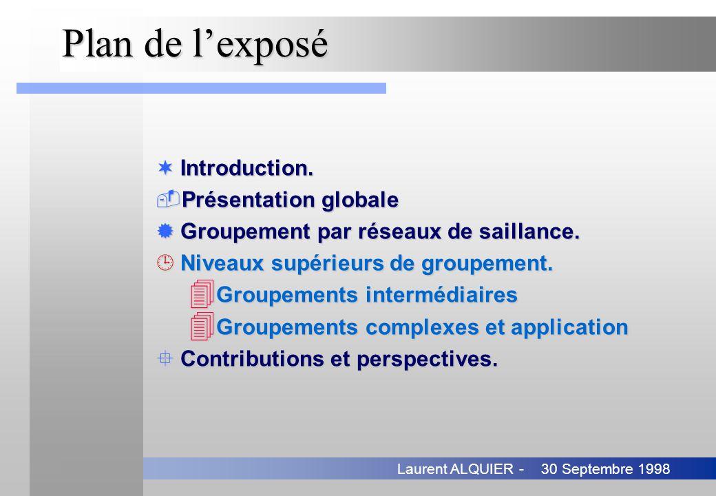 Plan de l'exposé Introduction. Présentation globale