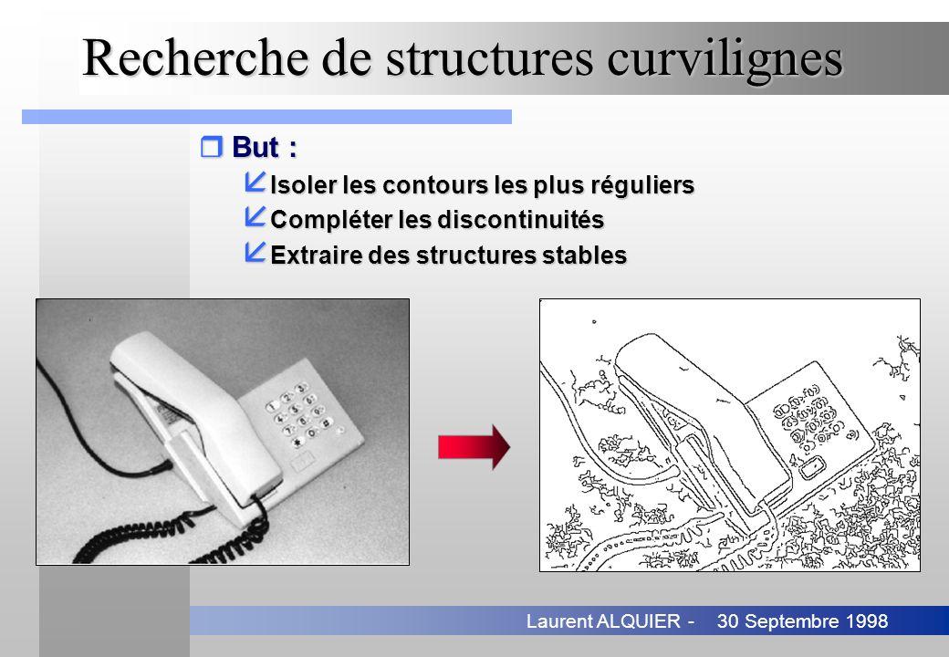 Recherche de structures curvilignes