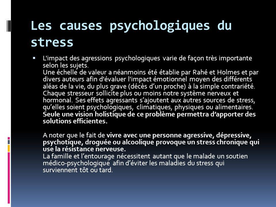 Les causes psychologiques du stress