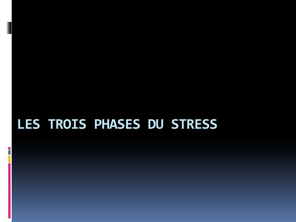 LES TROIS PHASES DU STRESS