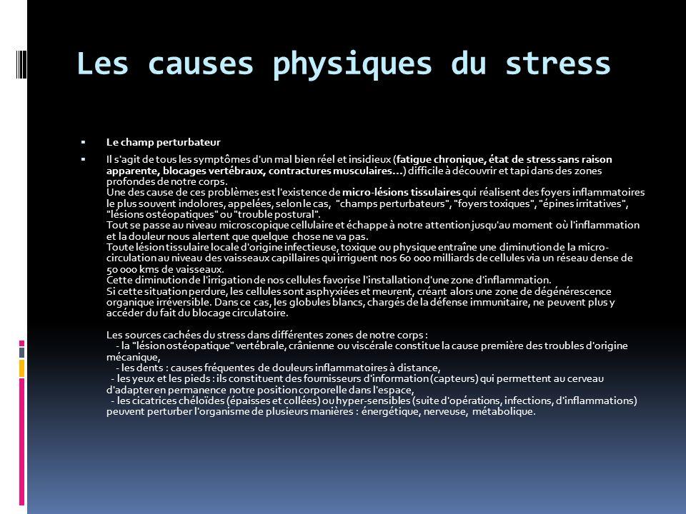 Les causes physiques du stress