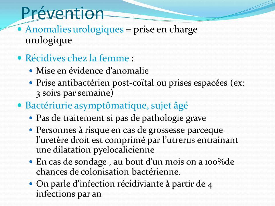 Prévention Anomalies urologiques = prise en charge urologique