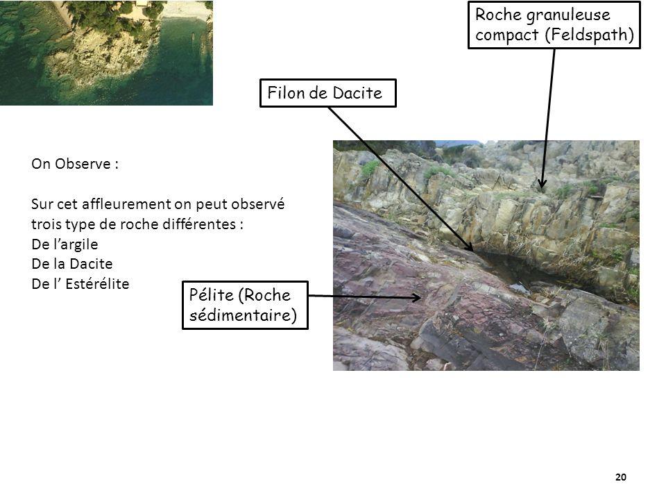 Roche granuleuse compact (Feldspath)