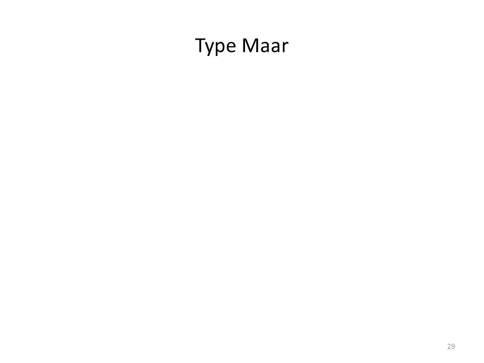 Type Maar