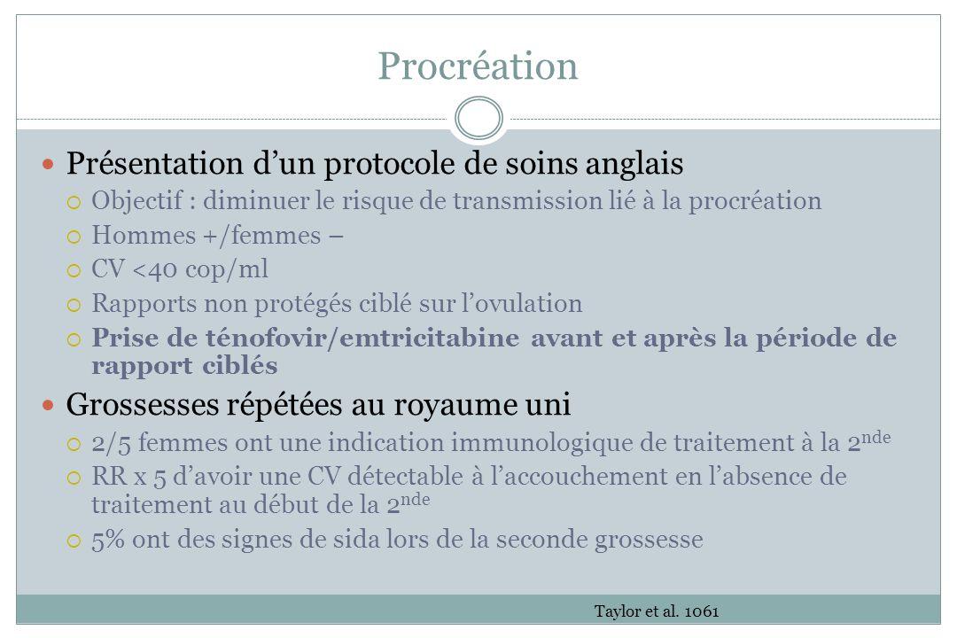 Procréation Présentation d'un protocole de soins anglais
