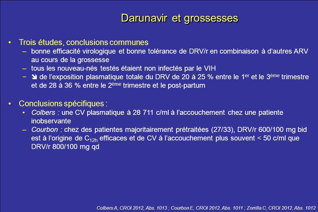 Darunavir et grossesses