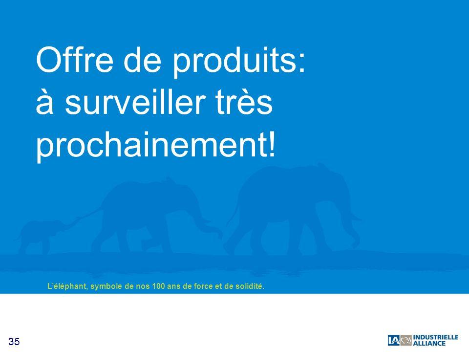 Offre de produits: à surveiller très prochainement!