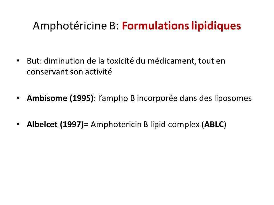 Amphotéricine B: Formulations lipidiques