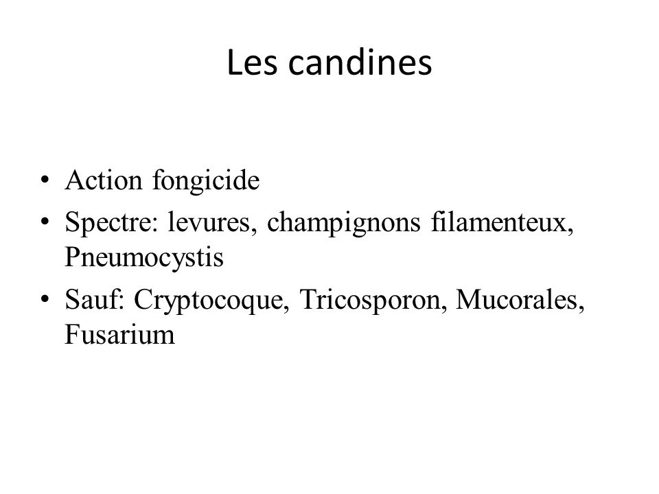 Les candines Action fongicide