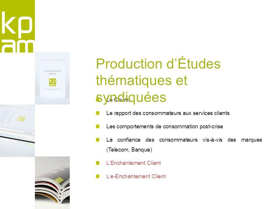 Production d'Études thématiques et syndiquées