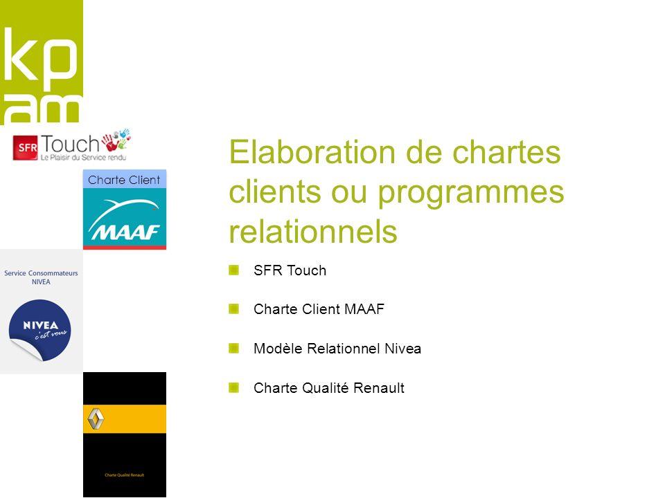 Elaboration de chartes clients ou programmes relationnels