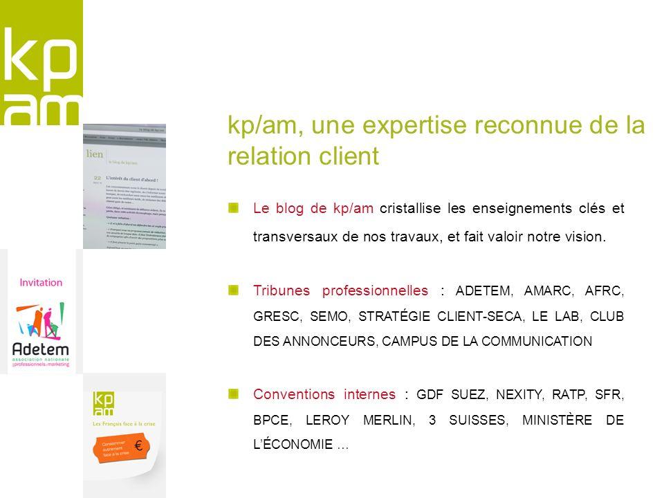 kp/am, une expertise reconnue de la relation client
