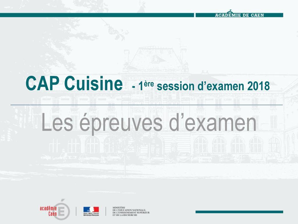 Cap cuisine arr t du 17 mars ppt t l charger - Sujet examen cap cuisine ...