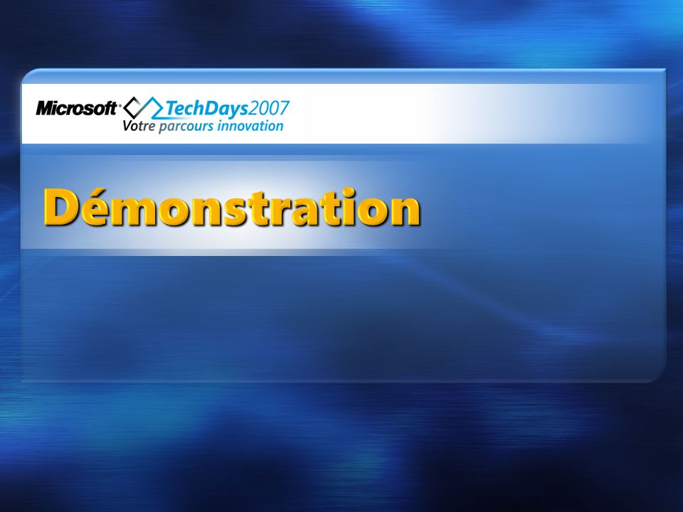 3/30/2017 10:20 AM Démonstration. © 2005 Microsoft Corporation. All rights reserved.