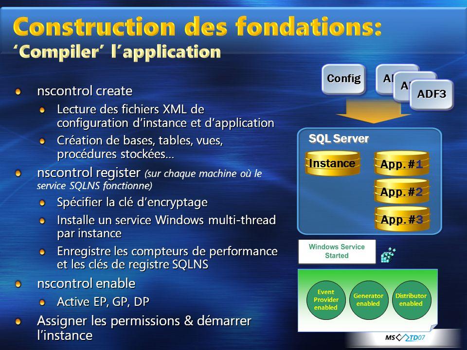 Construction des fondations: 'Compiler' l'application