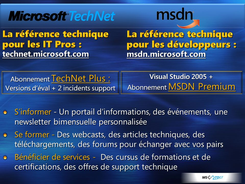 La référence technique pour les IT Pros : La référence technique