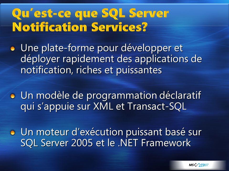 Qu'est-ce que SQL Server Notification Services