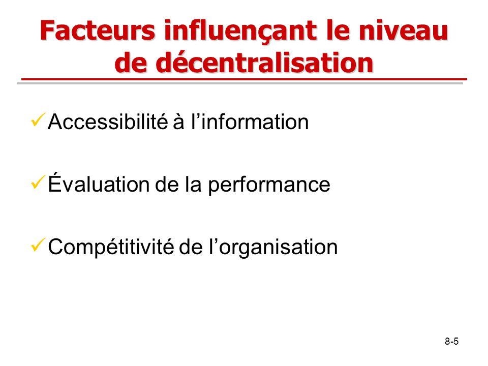 Facteurs influençant le niveau de décentralisation