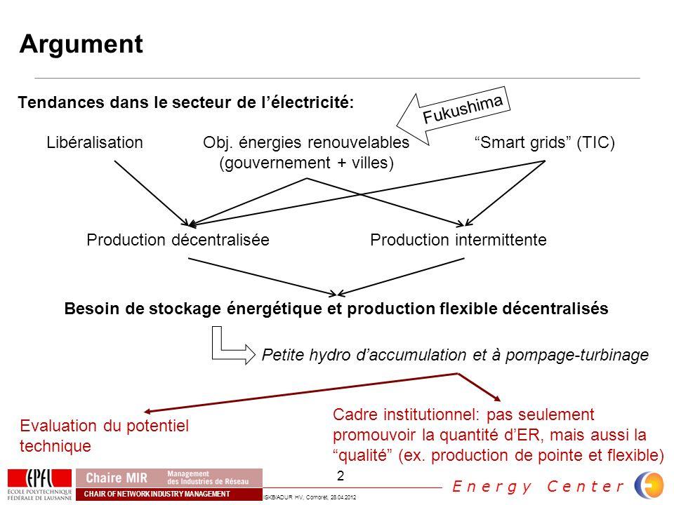 Besoin de stockage énergétique et production flexible décentralisés