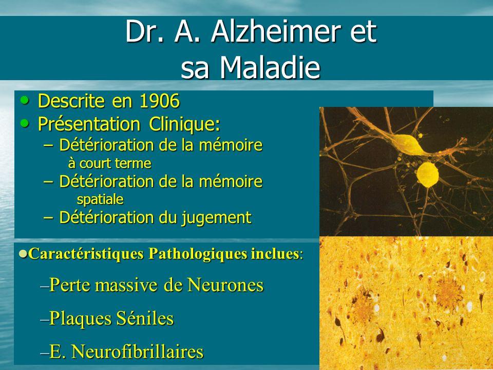 Dr. A. Alzheimer et sa Maladie