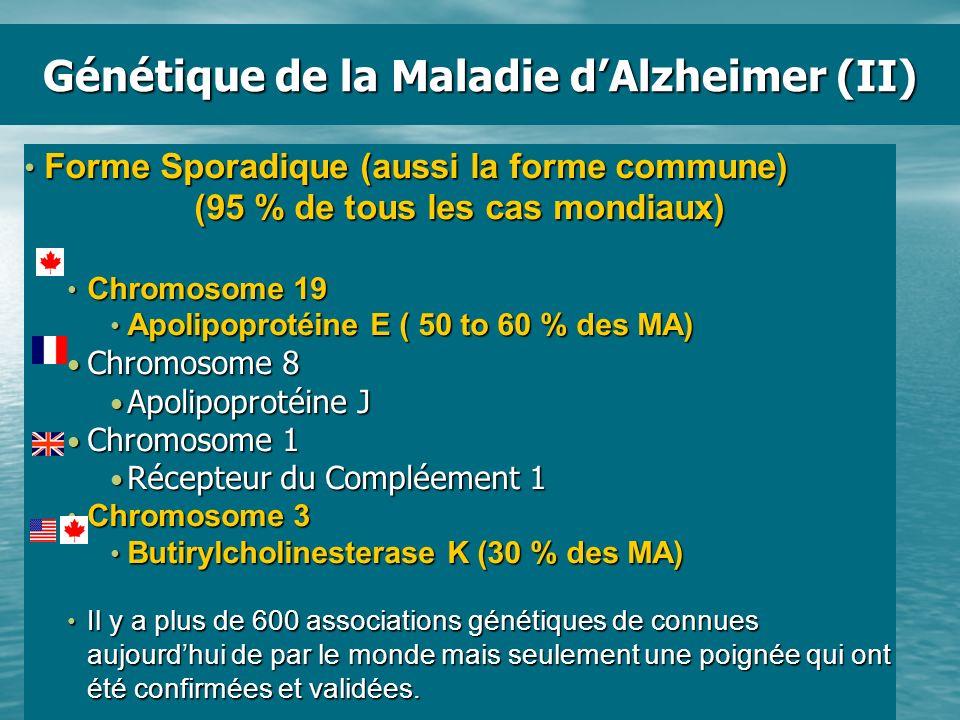 Génétique de la Maladie d'Alzheimer (II)