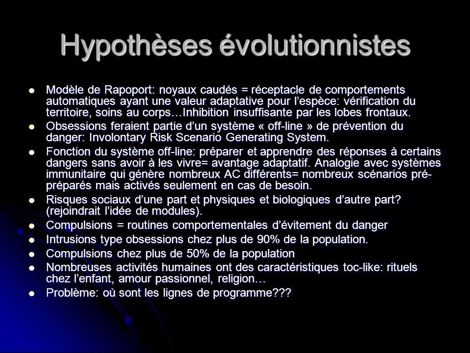 Hypothèses évolutionnistes