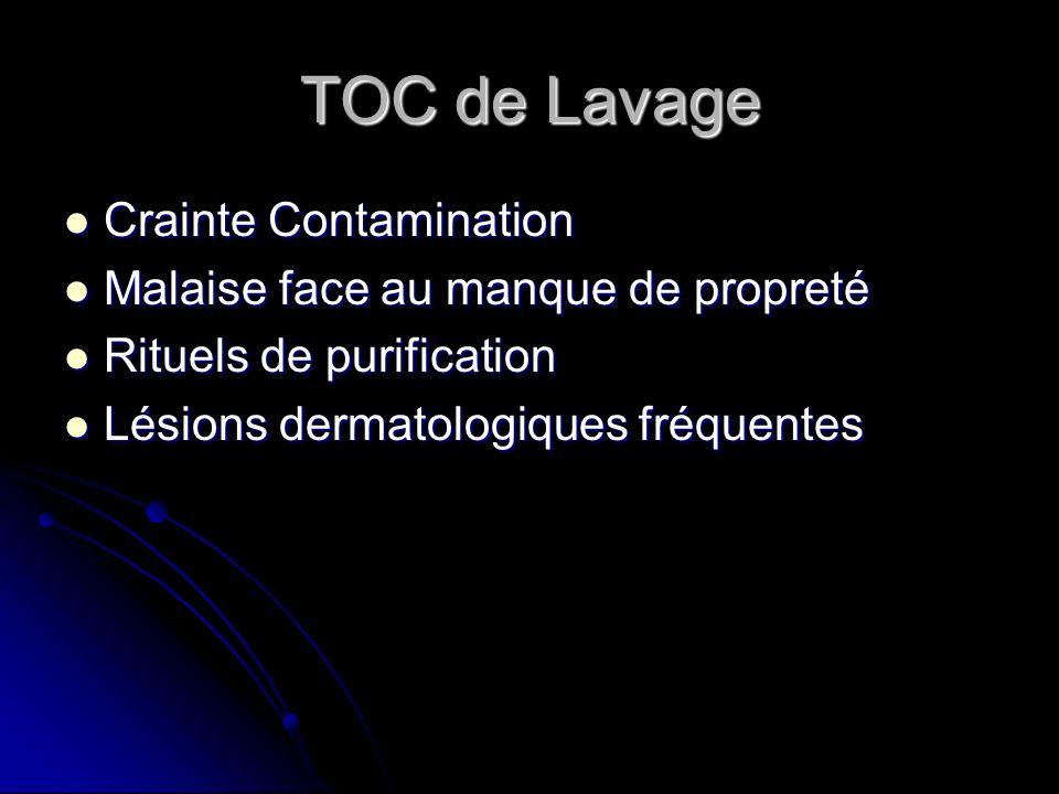 TOC de Lavage Crainte Contamination Malaise face au manque de propreté