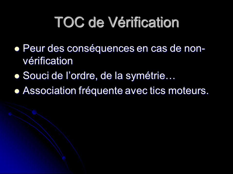 TOC de Vérification Peur des conséquences en cas de non-vérification