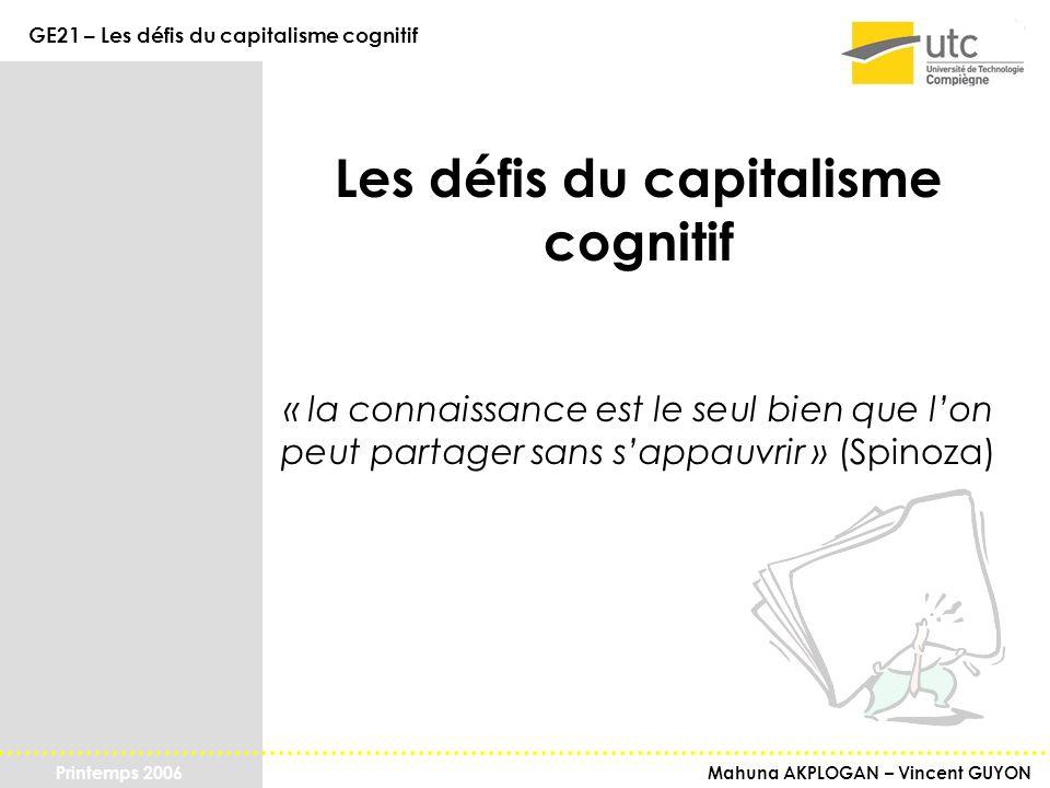 Les défis du capitalisme cognitif