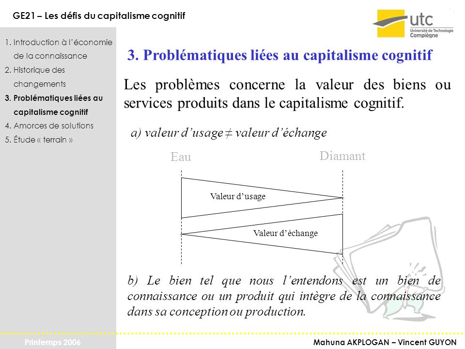 3. Problématiques liées au capitalisme cognitif