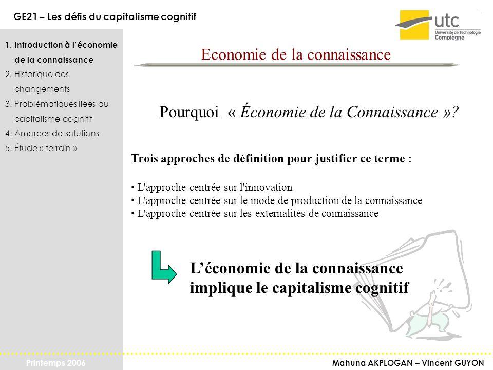 Economie de la connaissance