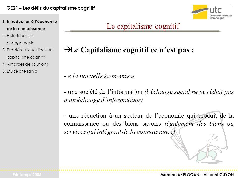 Le capitalisme cognitif
